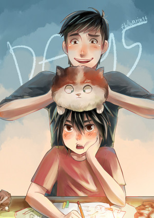 Hiro, Tadashi and Mochi