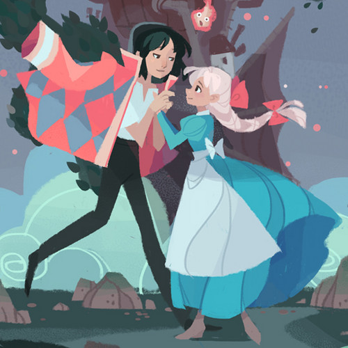 Howl and Sophie wallpaper entitled Howl and Sophie