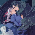 Howl and Sophie - howls-moving-castle fan art