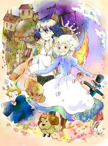 Howl and Sophie wallpaper titled Howl's Moving Castle