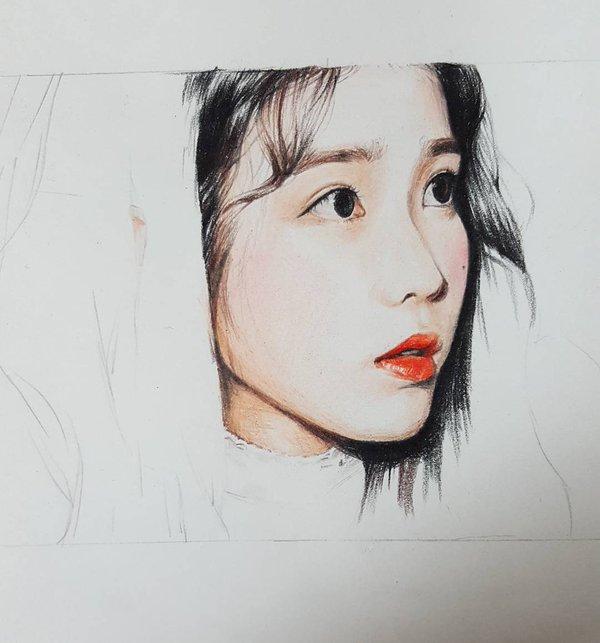 IU Fan Art by 깔창 (lms970515)