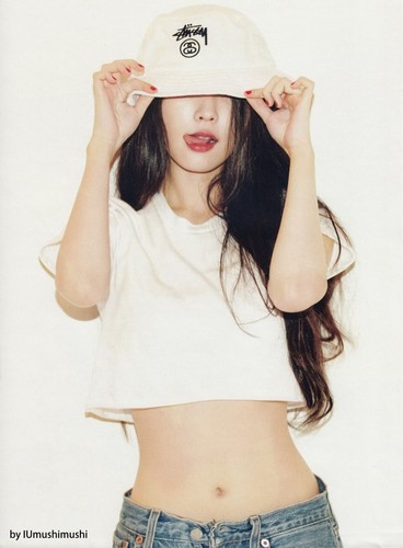 IU wallpaper with a fedora, a snap brim hat, and a campaign hat titled IU for 2015 December GQ Korea HQ Scans