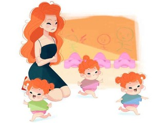 If Disney Princesses Were Moms