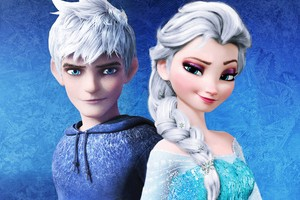 Jack Frost and Elsa Fanfiction fond d'écran