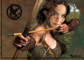 Jennifer as Katniss jennifer lawrence  - jennifer-lawrence fan art