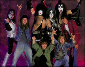 किस and Detroit Rock City Cast 1999