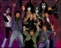 KISS and Detroit Rock City Cast 1999 - kiss photo