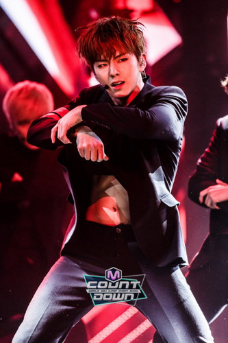 Monsta X wallpaper possibly containing a hip boot titled Kihyun hottie♥♥