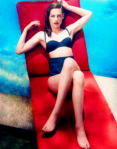 Kristen Stewart fond d'écran with a leotard and a maillot de bain called Kristen Stewart bikini