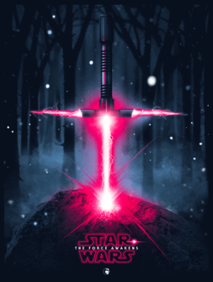 Kylo Ren's double edged lightsaber