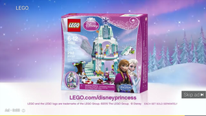 Lego Anna and Elsa - Disney Princess logo???