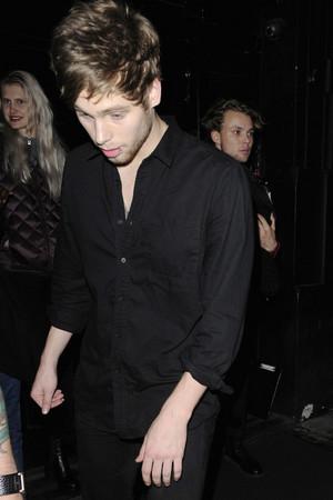 Luke leaving a Club in London