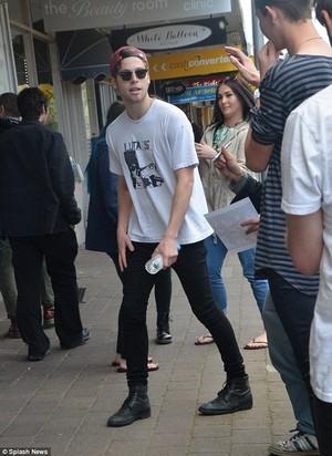 Luke with fans