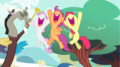 MLP Fanart Cutie Mark Crusaders and Discord Cheering - discord-my-little-pony-friendship-is-magic fan art