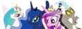 MLP Fanart Princesses and Discord - my-little-pony-friendship-is-magic fan art