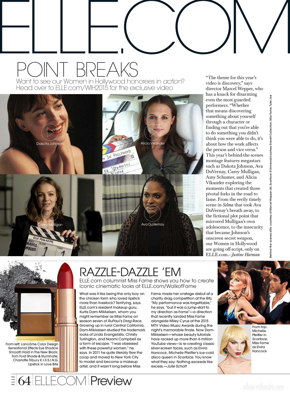 Magazine scans: Elle US (November 2015)