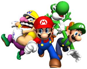 Mario Luigi Wario and Yoshi