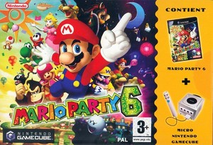Mario Party 6 GameCube and Microphone bundle BoxArt