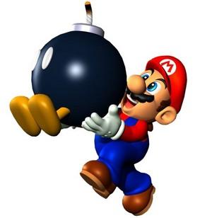 Mario with Bob omb