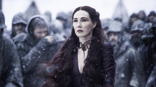 Game of Thrones wallpaper possibly containing a box coat, an outerwear, and an overgarment called Melisandre