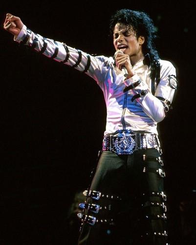 Michael Jackson wallpaper probably with a concert and a hip boot entitled Michael Jackson Bad Tour