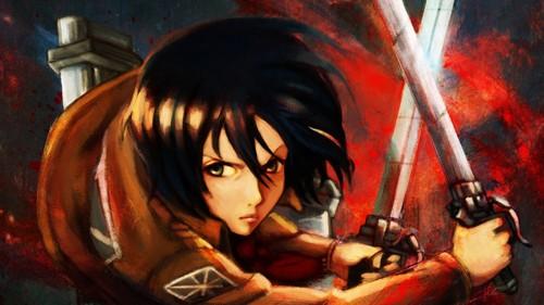 Ataque a los titanes fondo de pantalla probably containing anime called Mikasa Ackerman