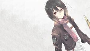 Mikasa Ackerman پیپر وال