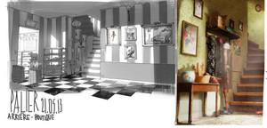 Miraculous Ladybug - Marinette's nyumbani Concept Art