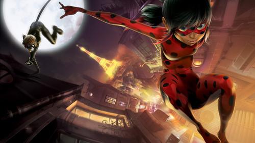 Nickelodeon karatasi la kupamba ukuta called Miraculous Ladybug!