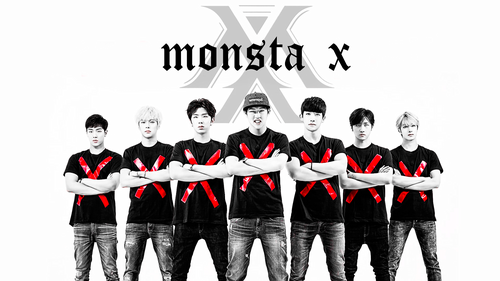 Monsta X দেওয়ালপত্র containing সৈন্যদলের বেশ, a full dress uniform, and dress blues titled Monstax hotties ♔♥