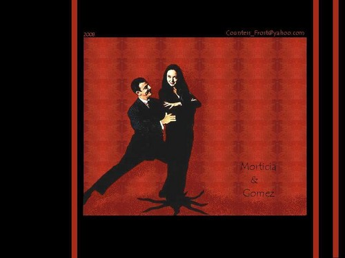 The Addams Family 1964 wallpaper containing a concert titled Morticia & Gomez