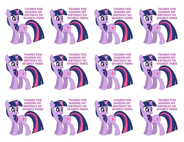 My Little Pony Free Printable Favor Tag