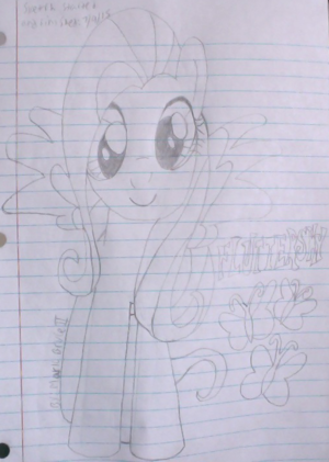 My 秒 drawing of Fluttershy