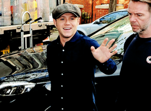 Niall arriving at BBC studios