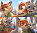 Nick and Judy selfies