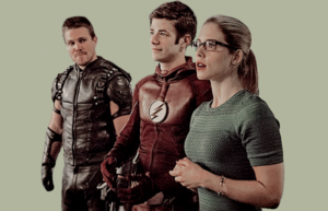 Oliver, Felicity and Barry