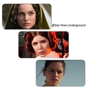 Padme,Leia,Rey