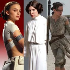 Padme,Leia and Rey