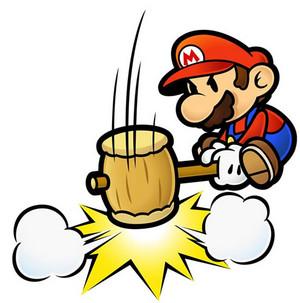 Paper Mario Hammer again
