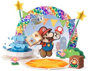 Paper Mario in Decalburg