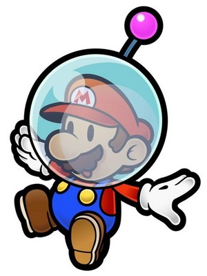 Paper Mario in Space