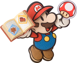 Paper Mario with Sticker book