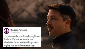 Petyr Baelish + Craigslist Personals