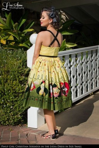 Christian Serratos achtergrond possibly with a hoopskirt and a polonaise called Pinup Girl Clothing Photoshoot ~ 2015