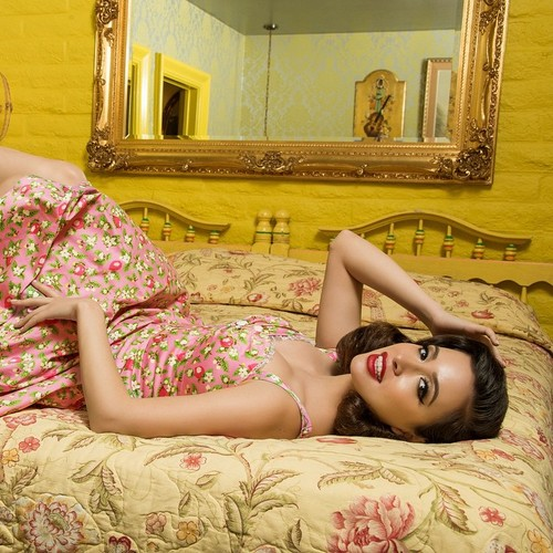 Christian Serratos wallpaper with skin called Pinup Girl Clothing Photoshoot ~ 2015