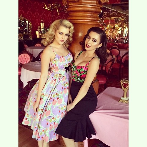 Christian Serratos achtergrond called Pinup Girl Clothing Photoshoot ~ 2015