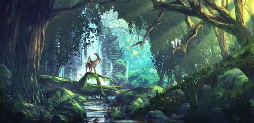 Hayao Miyazaki fondo de pantalla titled Princess Mononoke