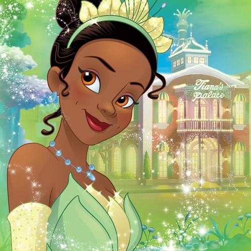 Disney Princess karatasi la kupamba ukuta titled Princess Tiana