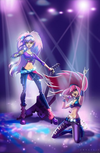 The Winx Club wallpaper containing a concert titled Rock Stars
