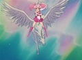 Sailor Chibimoon riding Pegasus